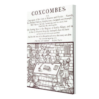 A Cluster of Coxcombes' by John Taylor Gallery Wrap Canvas