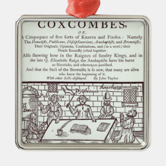 A Cluster of Coxcombes' by John Taylor Metal Ornament