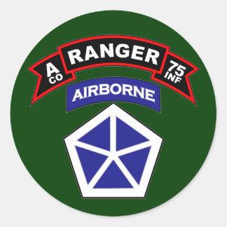 A Co, 75th Infantry Regiment - Rangers, Vietnam Classic Round Sticker