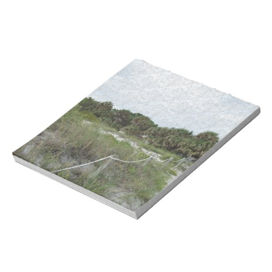 A Coastal Trail in Blue Spruce Texture Notepad