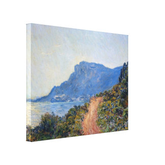 A coastal view with a bay by Claude Monet Canvas Print