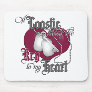 A Coastie holds the key to my Heart Mouse Pad