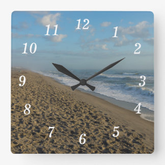 A Cocoa Beach Morning Square Wall Clock