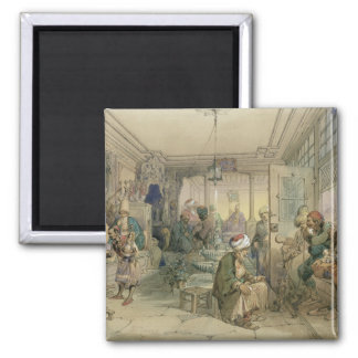 A Coffee House, Constantinople, 1854 (pen & ink & Magnet