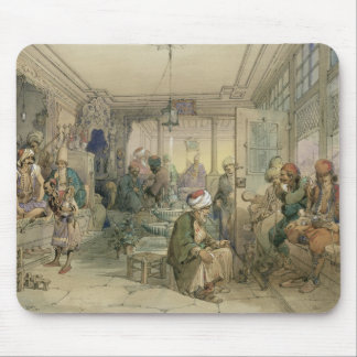 A Coffee House, Constantinople, 1854 (pen & ink & Mouse Pad