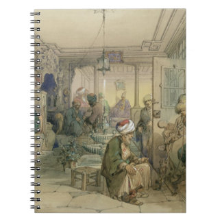 A Coffee House, Constantinople, 1854 (pen & ink & Notebook