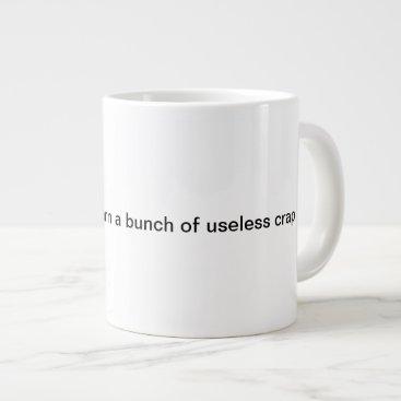 A Coffee Mug Saying school is useless