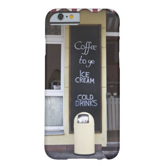 a coffee shop with a coffee to go sign barely there iPhone 6 case