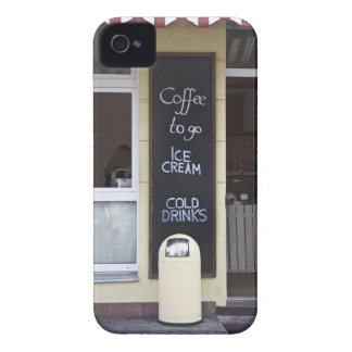 a coffee shop with a coffee to go sign iPhone 4 cover