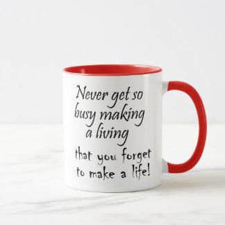 A coffeecup to remind you to enjoy life mug
