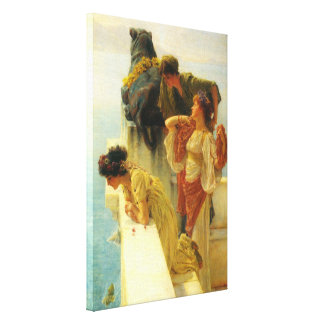 A Coign Of Vantage by Alma Tadema Stretched Canvas Print
