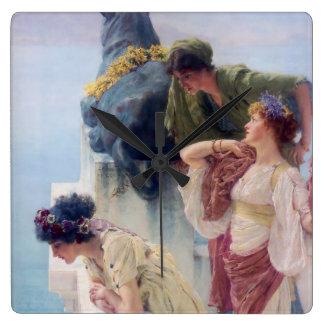 A Coign of Vantage - Lawrence Alma-Tadema Square Wall Clock