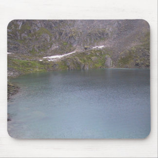 A Cold Mountain Lake In Alaska On An Overcast Day Mouse Pad