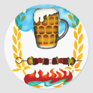 A Cold Mug of Beer! Classic Round Sticker