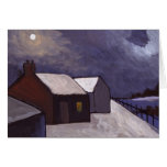 A COLD NIGHT GREETING CARD