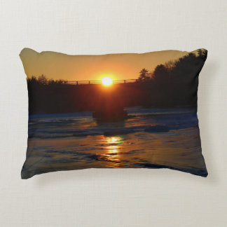 A Cold Winter Sunset January 2015 Accent Pillow