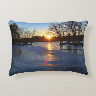 A Cold Winter Sunset January 2015 II Accent Pillow