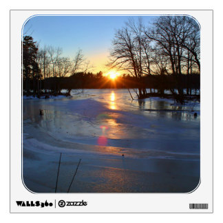 A Cold Winter Sunset January 2015 II Wall Sticker