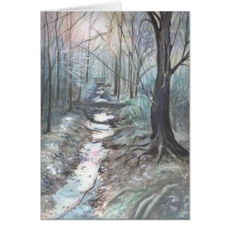 a cold winters day card