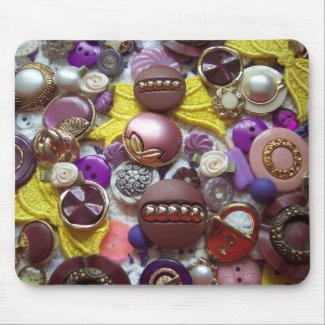 A Collage of Pretty Purple Buttons mousepad