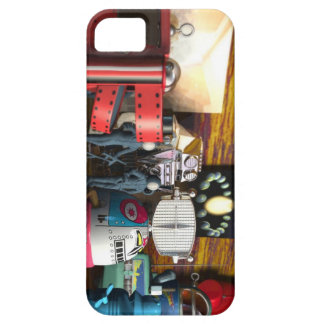 A Collection of 3D Vintage Space Toys iPhone SE/5/5s Case