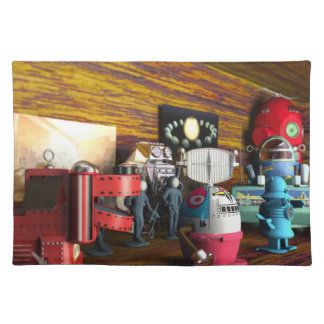 A Collection of 3D Vintage Space Toys Placemat