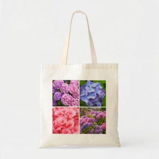 A collection of Hydrangea flowers close up Tote Bag