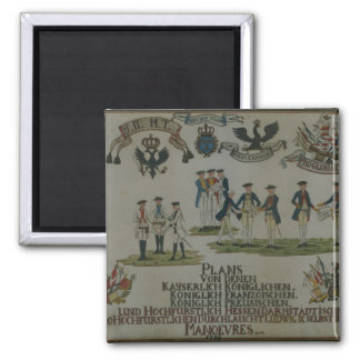 A collection of maneouvre plans 2 inch square magnet