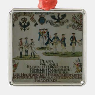 A collection of maneouvre plans metal ornament