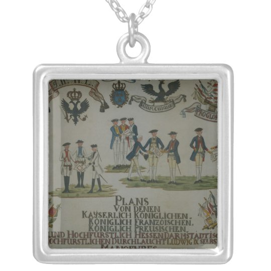 A collection of maneouvre plans silver plated necklace