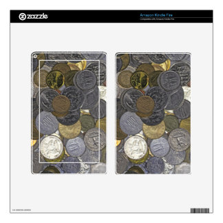 A collection of old and international coins kindle fire skins
