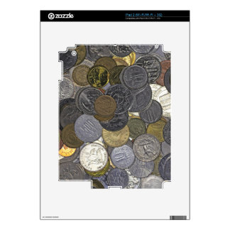 A collection of old and international coins skins for iPad 2