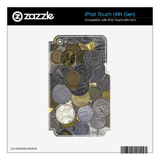 A collection of old and international coins skins for iPod touch 4G