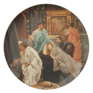 A Collector of Pictures at the Time of Augustus, 1 Dinner Plate