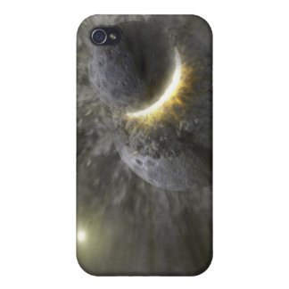 A collision between massive objects in space iPhone 4 cover