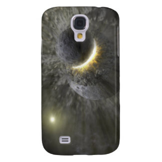 A collision between massive objects in space samsung s4 case