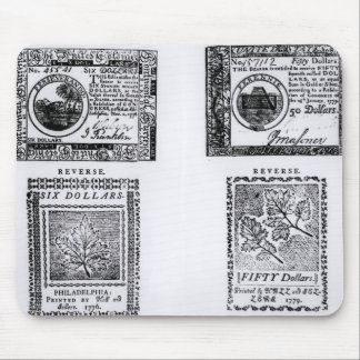 A colonial six dollar bill mouse pad