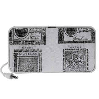 A colonial six dollar bill mini speakers