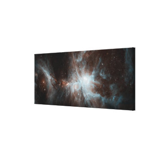 A colony of hot young stars in the Orion Nebula Canvas Print