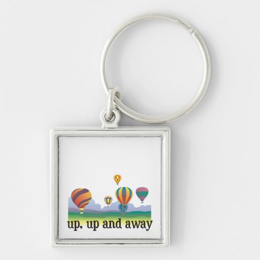 A colorful balloon flying gift - hot Air Balloons Keychain