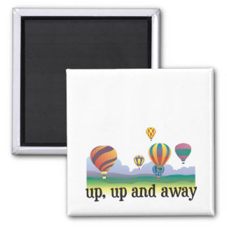 A colorful balloon flying gift - hot Air Balloons Magnet