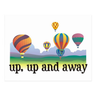 A colorful balloon flying gift - hot Air Balloons Postcard