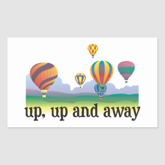 A colorful balloon flying gift - hot Air Balloons Rectangular Sticker
