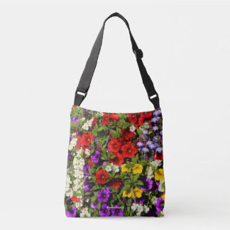 A Colorful Basket of Summer Annual Flowers Crossbody Bag