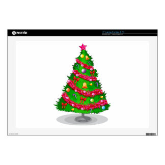 "A colorful christmas tree 17"" laptop skin"