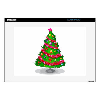 A colorful christmas tree laptop skin