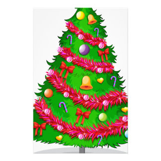 A colorful christmas tree stationery