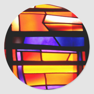 A colorful collage - Basilica of the Annunciation Classic Round Sticker