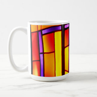 A colorful collage - Basilica of the Annunciation Coffee Mug