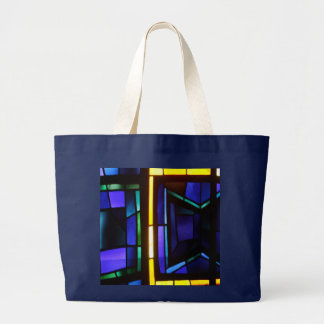 A colorful collage - Basilica of the Annunciation Large Tote Bag